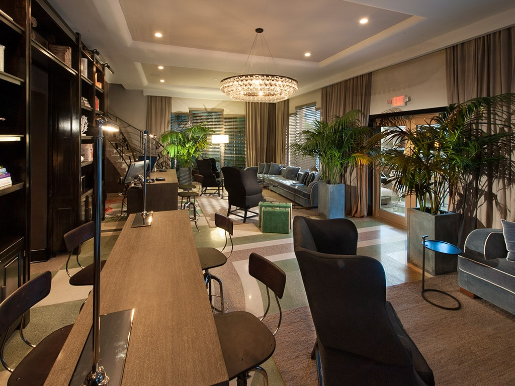 Lounge area at The Shepley, Miami
