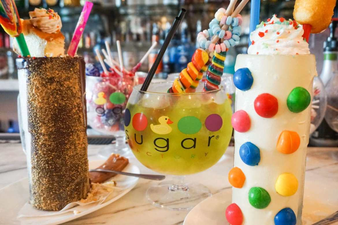 Crazy drinks at Sugar Factory, Miami