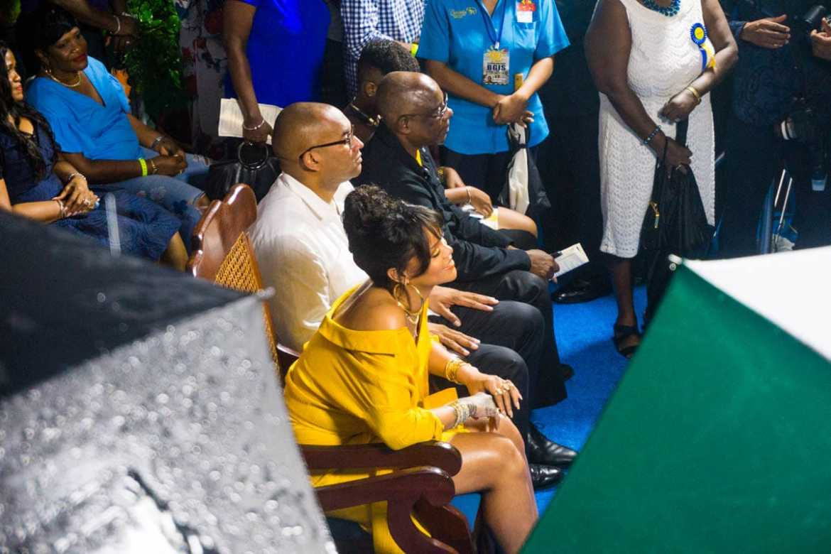 Rihanna attending the opening of Rihanna Drive, Barbados