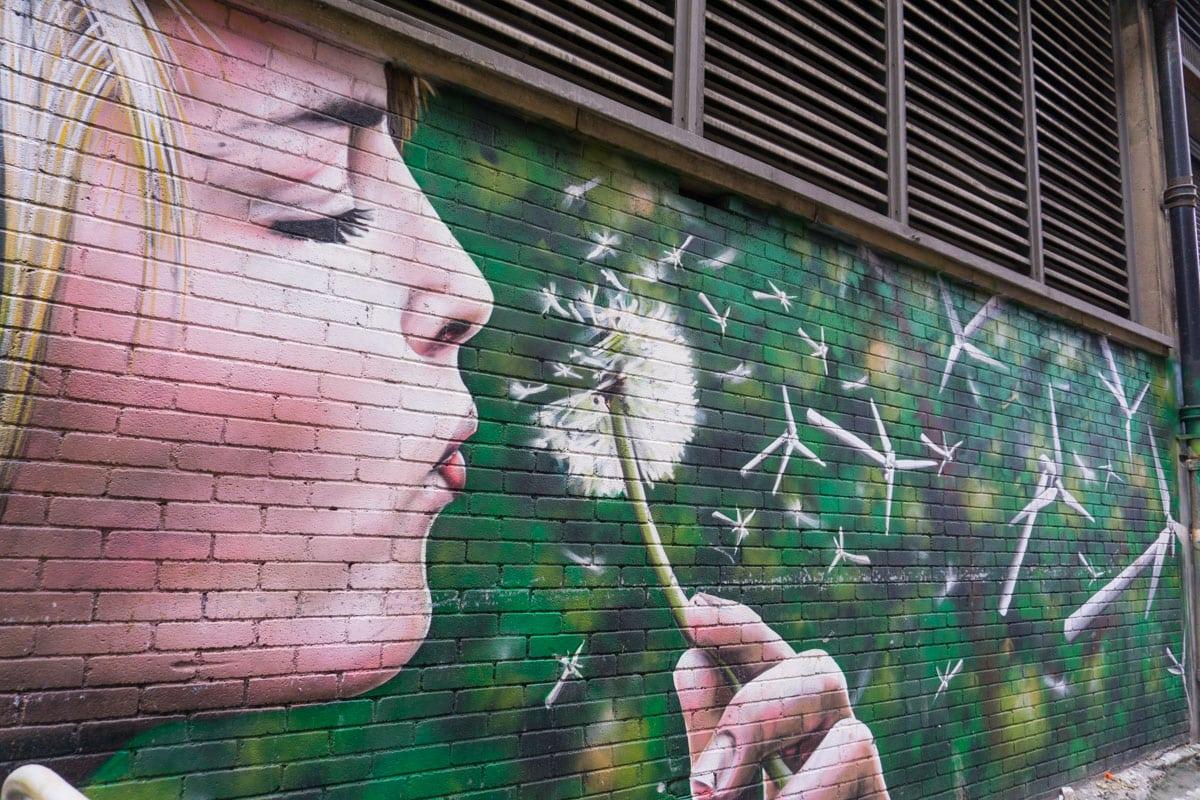 Wind Power mural in Glasgow