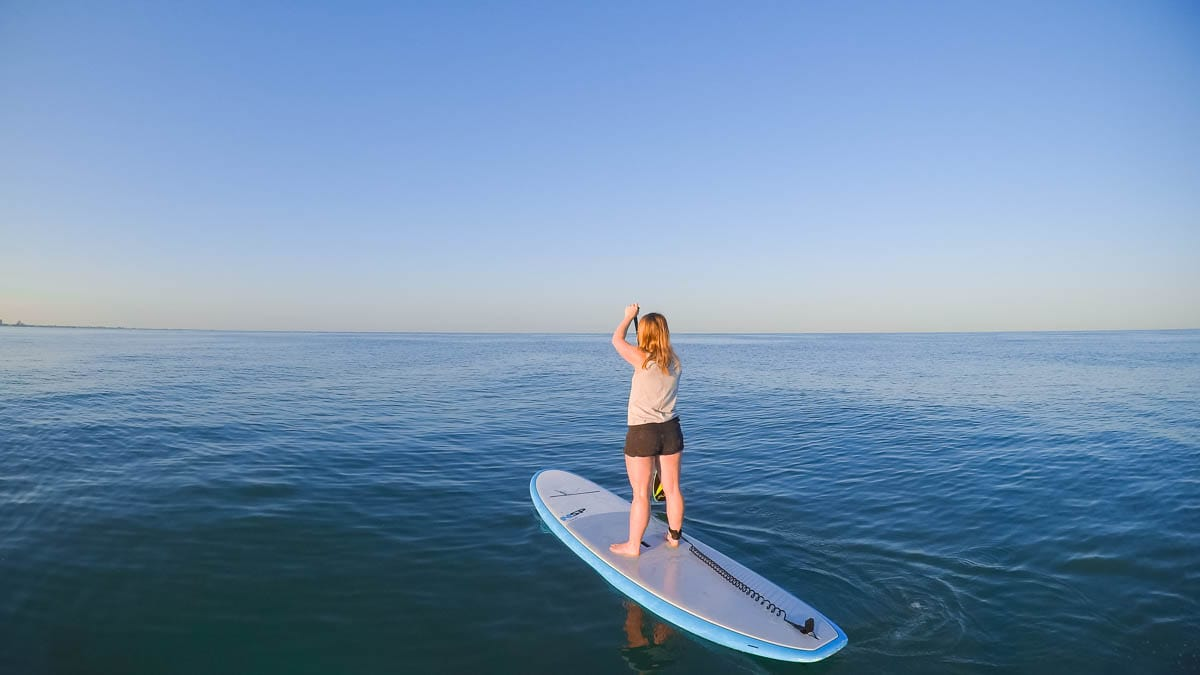 Paddle boarding in St Pete, Florida