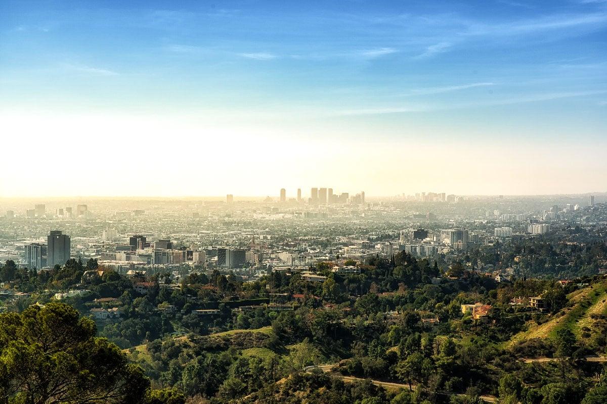 Incredible views over Los Angeles