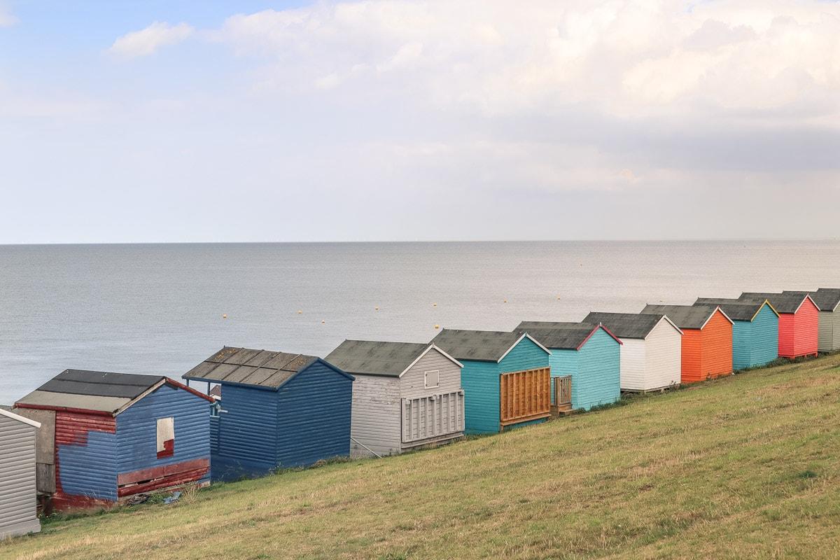 Beach huts on Tankerton Slopes