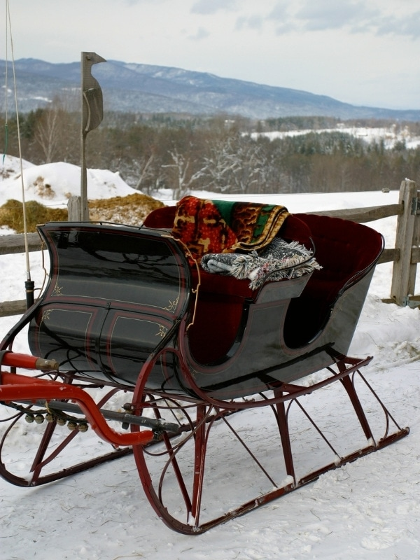 How about a sleigh ride in Vermont in winter