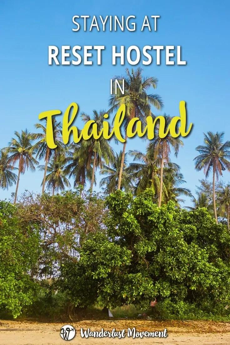 staying at reset hostel in krabi thailand