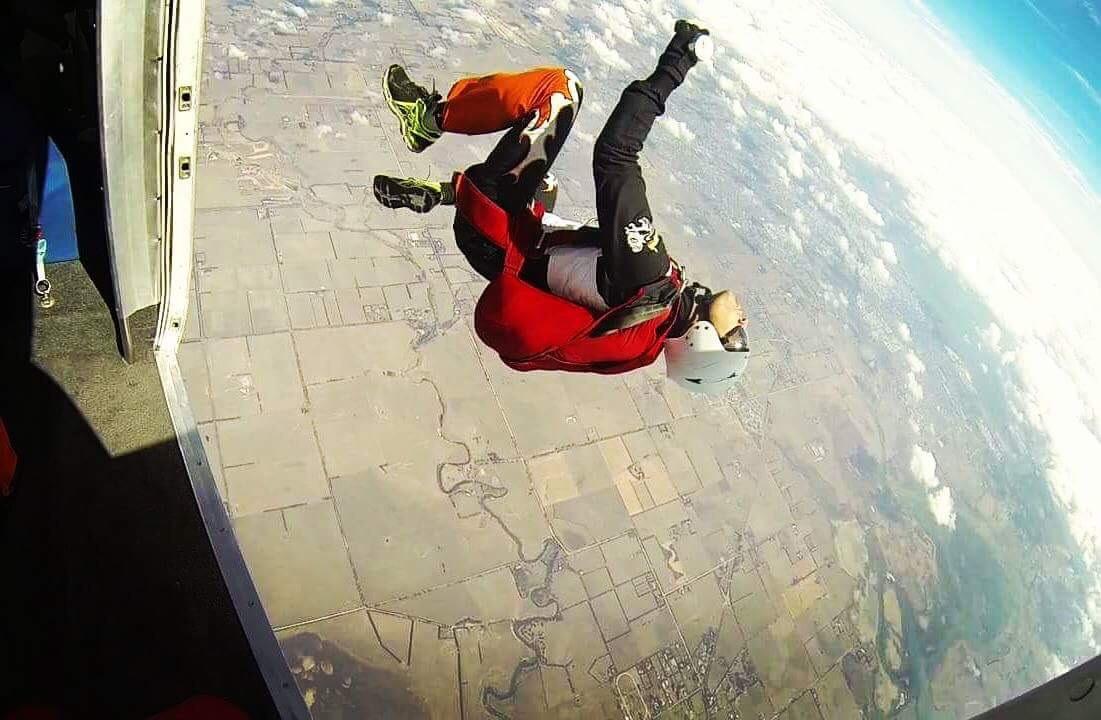Travel Blogger Sky Diving The Wanderlust Post