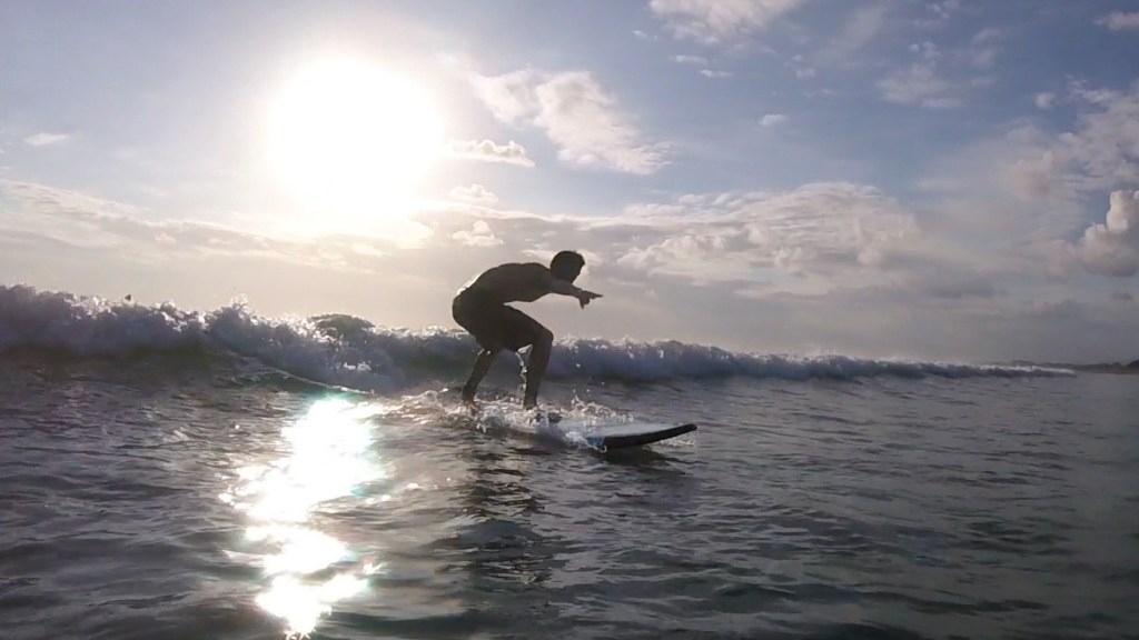 Travel Blogger Surfing Extreme Sport
