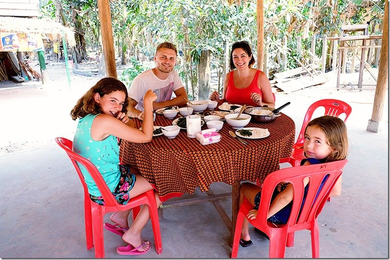 Cambodia Tours - Khmer Lunch Family Shot