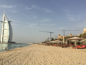 View of the Burj Al Arab from the Madinat Jumeriah