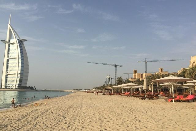 View of the Burj Al Arab from the Madinat Jumeriah