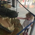 Mrs T gets 'bitten' by a crocodile at Dubai Mall