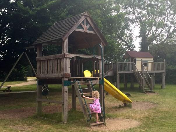 The playground at Crockford Farm, Pick Your Own, Weybridge