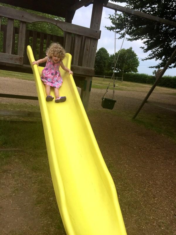 The slide at Crockford Farm, Pick Your Own, Weybridge