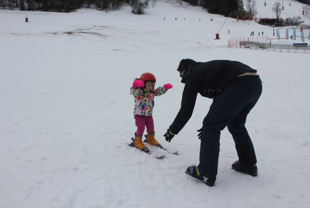 Mrs T skiing in Morzine, France