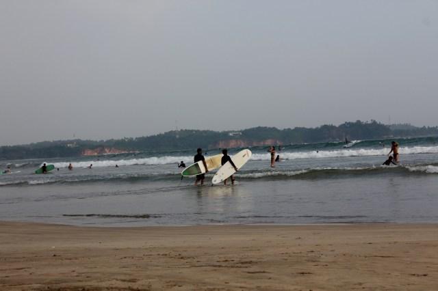 Surfers in Sri Lanka