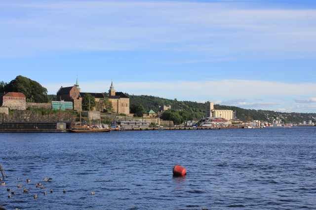 The Akershus Fortress from the harbour, Oslo