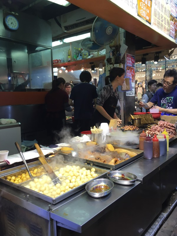 Street food in Mong Kok, Hong Kong