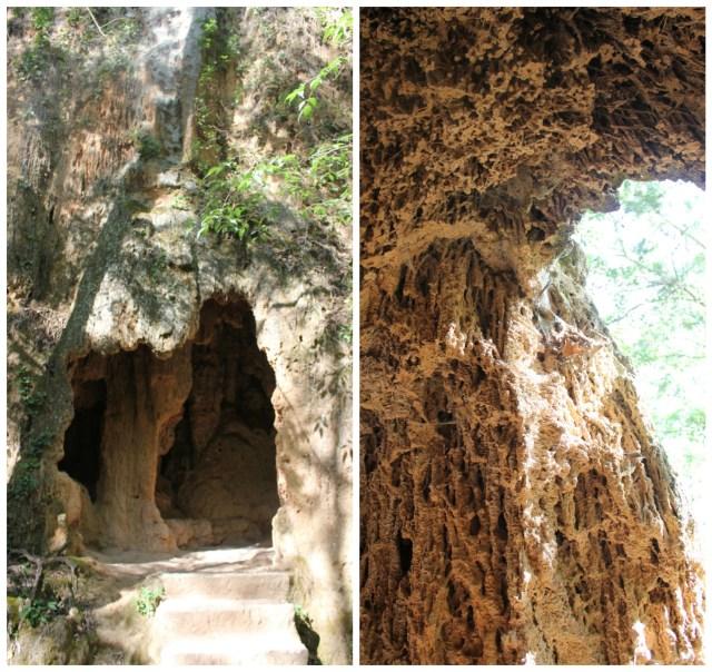 Caves in Piedra Monastery Gardens, Aragon, Spain