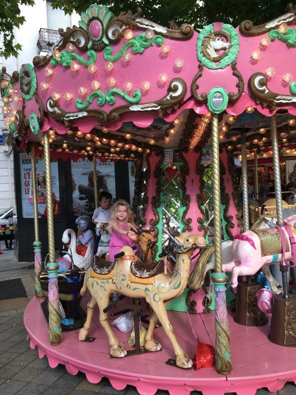 Pink carousel, Tours, France