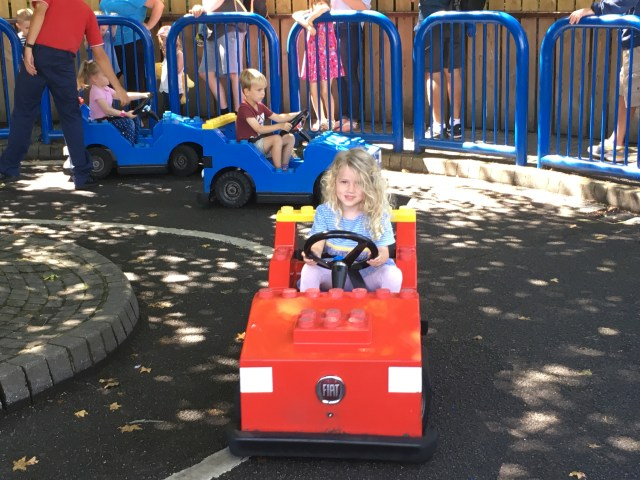 Mrs T at Legoland driving school