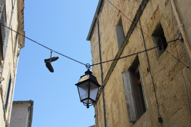 Shoes on wires, Montpellier, France
