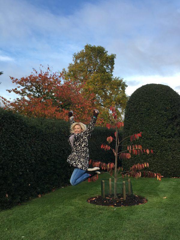 Jumping photo at Kew Gardens