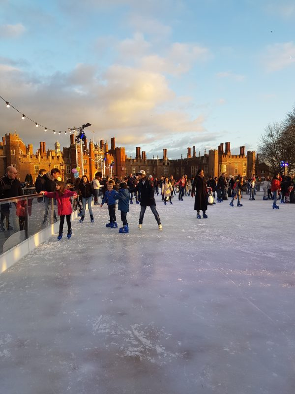 Christmas ice rink at Hampton Court Palace