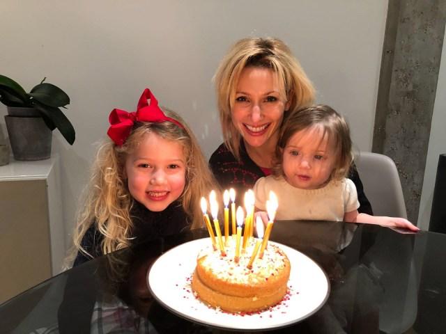 Wander Mum and family with birthday cake