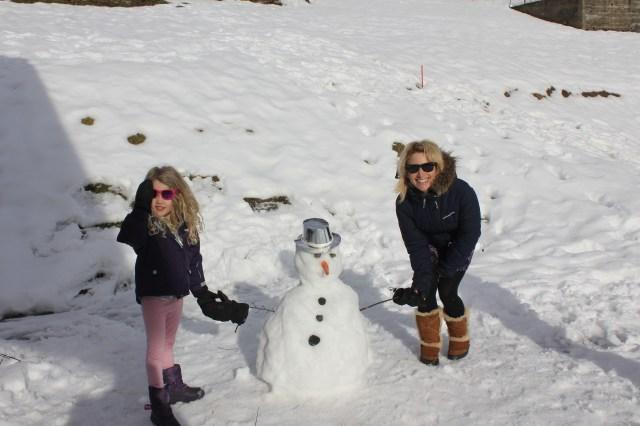 Snowman in Morzine