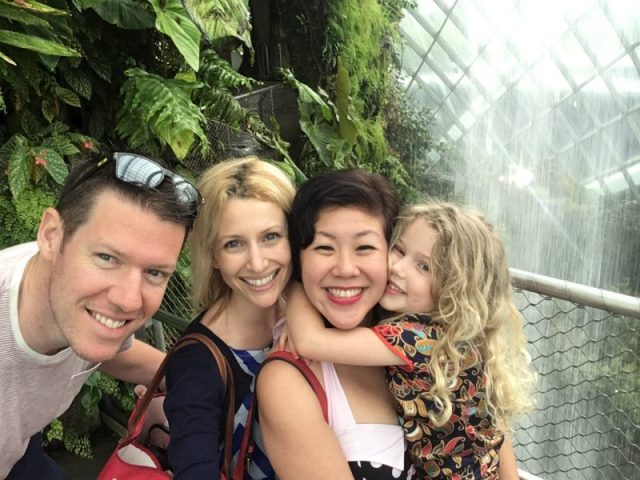 Wander Mum at Cloud Forest, Gardens in the Bay