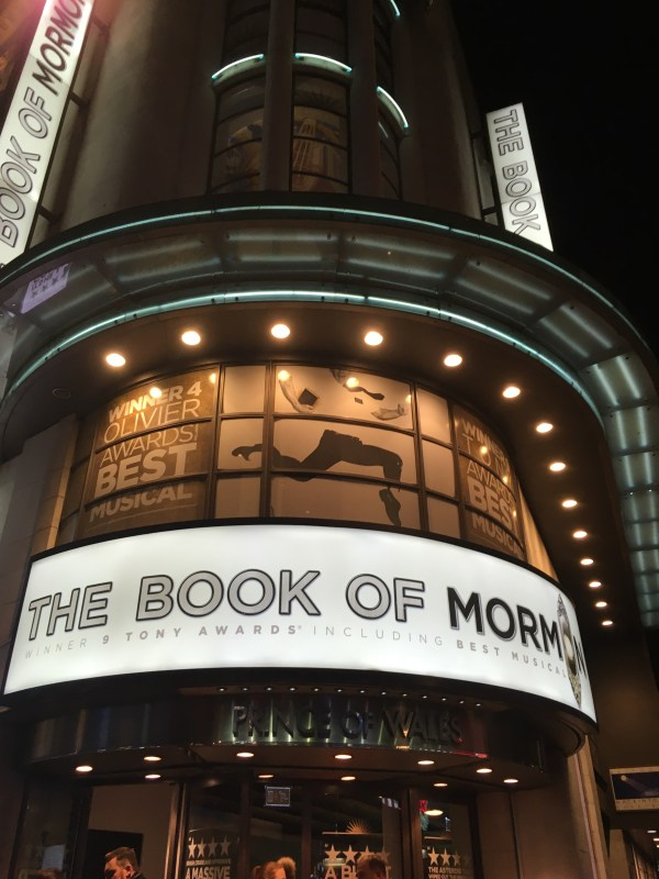The Book of Mormon, Prince of Wales theatre, London