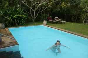 The beautiful pool at Buckingham Place, Tangalle