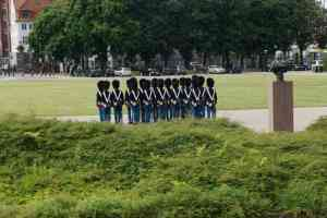 The start of the changing of the guard