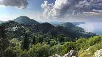 Corfu-Trail - km 64 - Ausblick auf Korfu Stadt und den Norden der Insel
