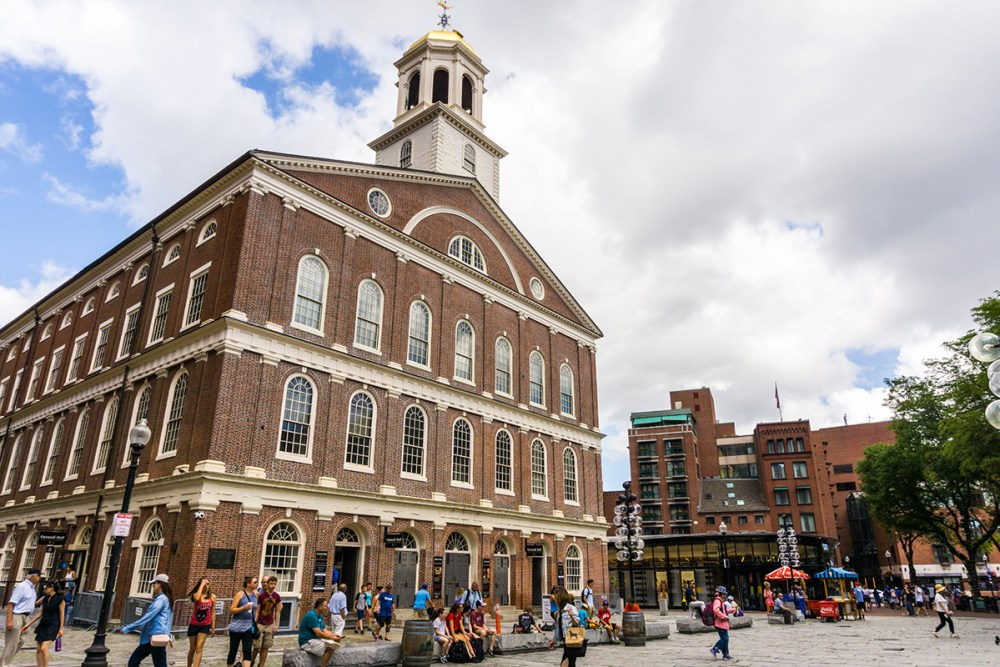 Visit Faneuil Hall and Quincy Market along the Freedom Trail.