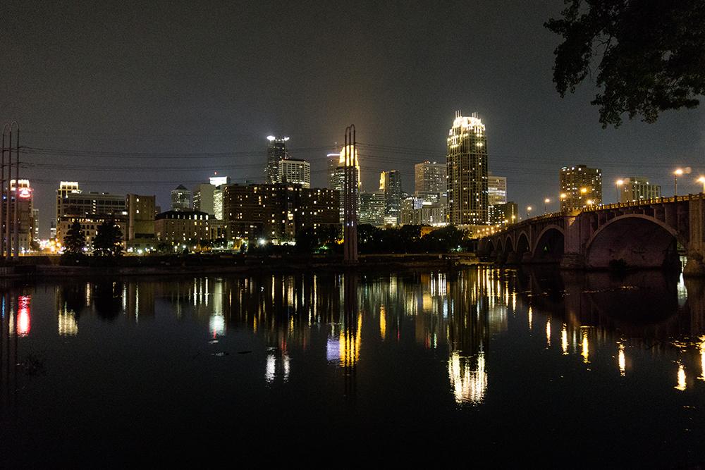 See the city at night