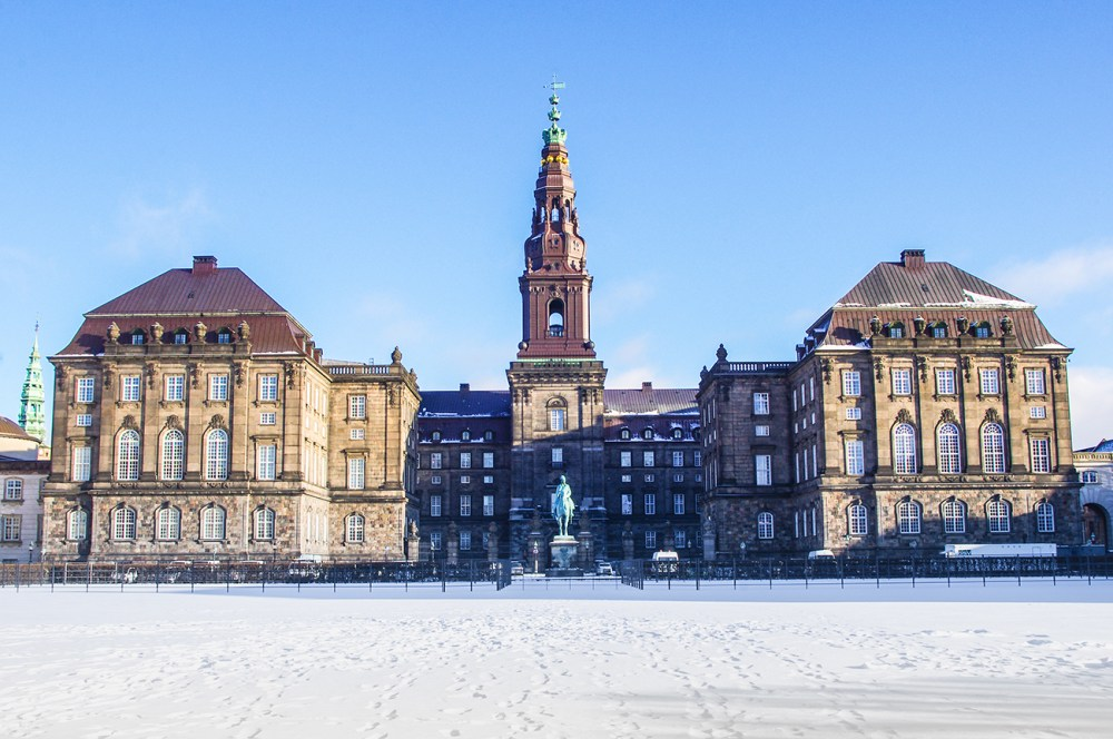 Stop by Christiansborg Castle