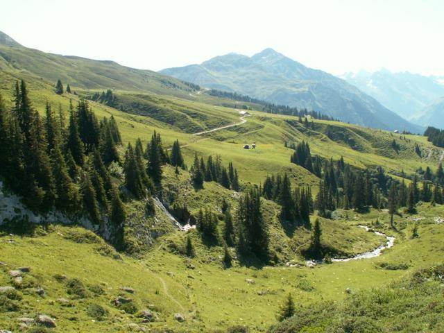 Blick zur Saaser Alp