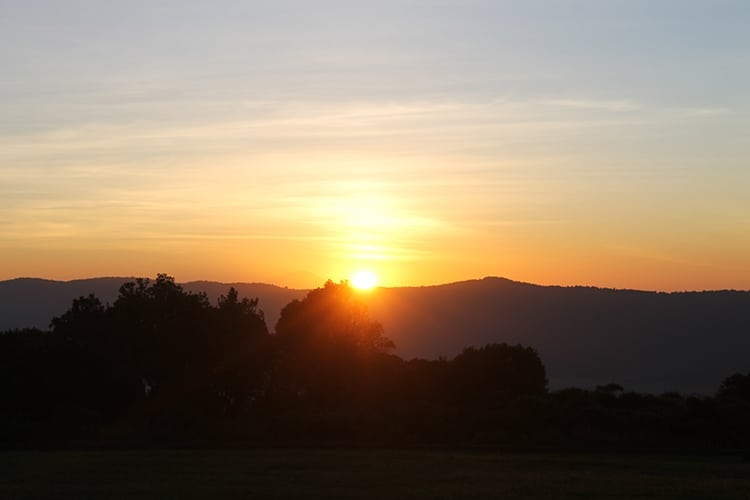 Sunrise at the Ngorogoro Crater inTanzania