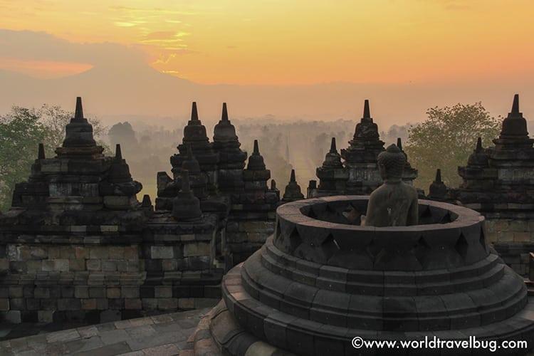 Sunrise at Borobudur in Jakarta