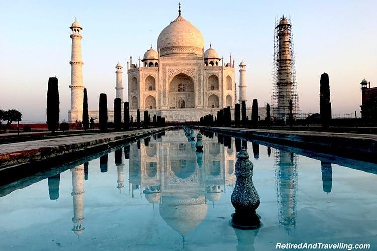 Sunrise at Taj Mahal in India