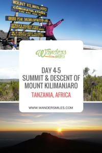 Day 4-5. the summit to Uhuru Peak and descent to Marangu Gate on the Kilimanjaro trek taking the the Marangu Route. Travel blog by Wanders Miles.