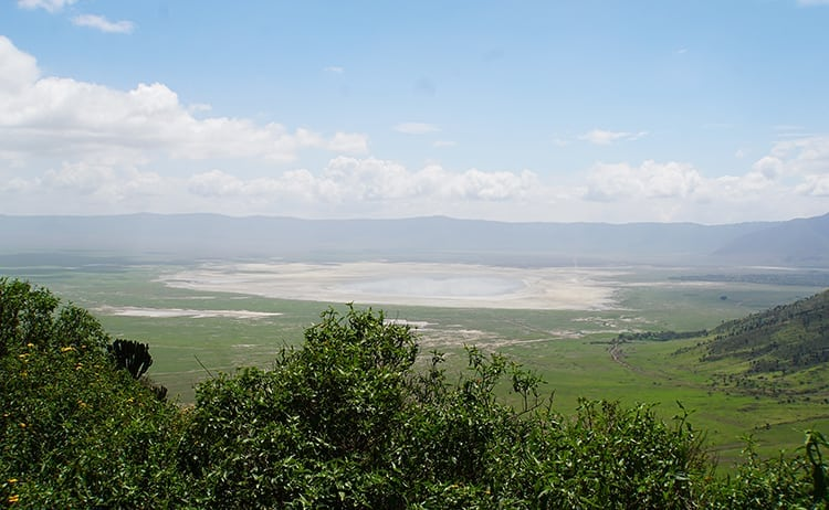 Stunning vista of the Ngorongoro Crater floor, Tanzania