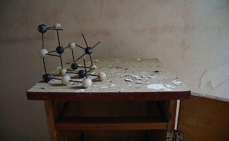Chemistry classroom at school in Pripyat