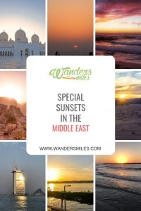 Special sunsets in the Middle East by travel bloggers