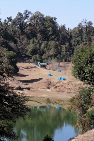 camping in foothills of himalayas