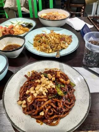 Assorted Malaysian dishes