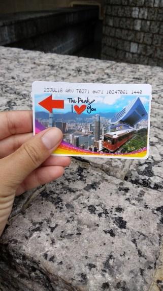 Victoria Peak Tram ticket