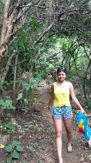 beach hike bali