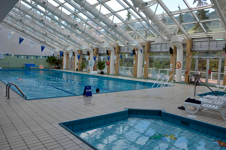 An image of the pool at the Sally Borden Fitness Centre